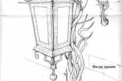 Эскиз кованого фонаря