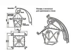 Кованный фонарь с консолью