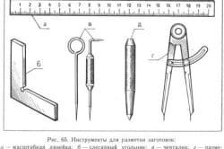Инструменты для разметки металла