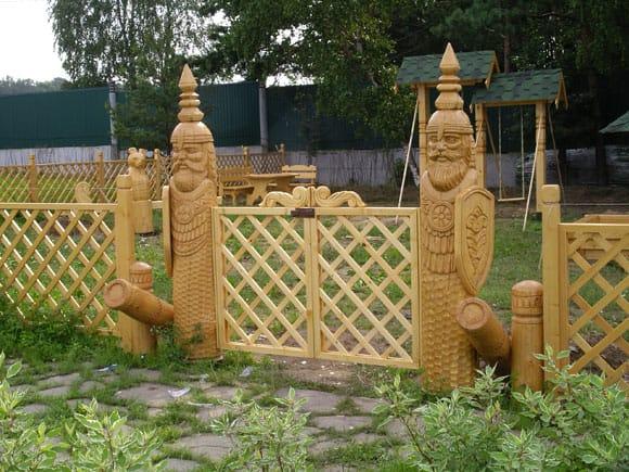 Ворота из планок