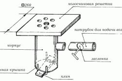 Конструкция чугунной колосниковой решетки для горна