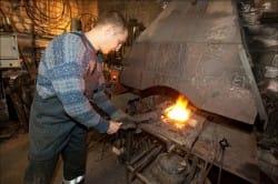 Разогрев металла для ковки