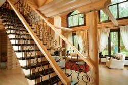 Кованая маршевая лестница