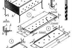 Схема изготовления металлического мангала