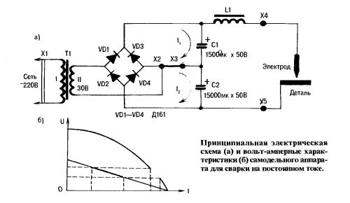 Схемы самодельного аппарата для сварки на постоянном токе