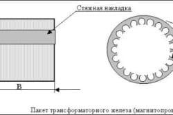 Пакет трансформаторного железа (магнитопровод)