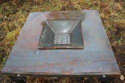 Основа горна - стол с решеткой