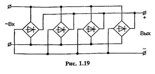 Схема диодного моста для