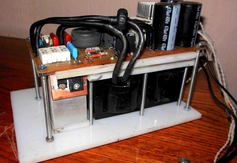 Сварочный аппарат из деталей телевизоров