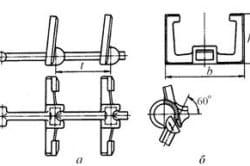 Литая разборная цепь из ковкого чугуна: а – конструкция; б – способ сборки-разборки