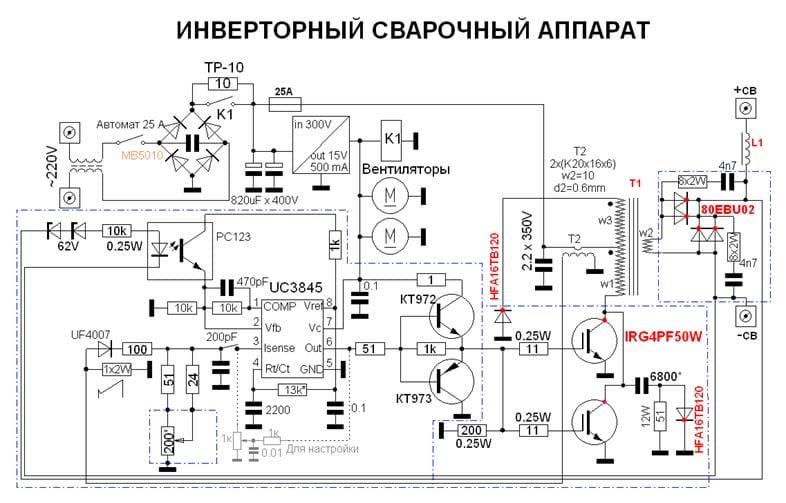 Схема инверторного сварочного