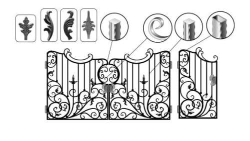 Пример металлоизделия с элементами художественной ковки
