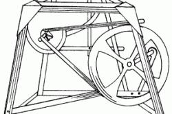 Конструкция переносного горна с педальным приводом