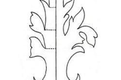 Шаблон для ковки листьев
