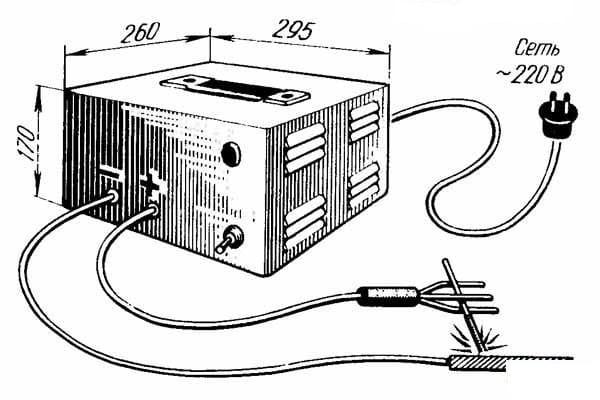Самодельный сварочный аппарат для сварки на постоянном токе