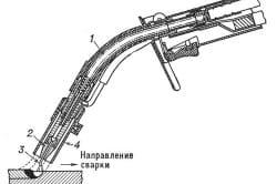 Горелка для полуавтоматической сварки плавящимся электродом