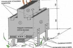 Схема устройства переносного мангала