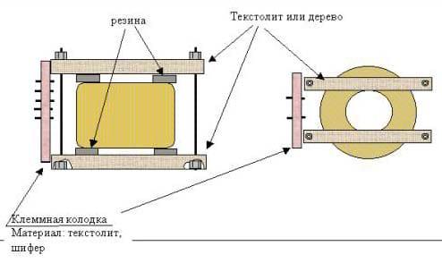 Схема трансформатора в сборе