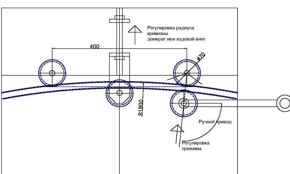 Самодельный трубогиб для профильной трубы ручной своими